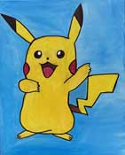 Online Painting Events - Paint Your Pikachu