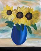 Online Painting Events - Sunflowers